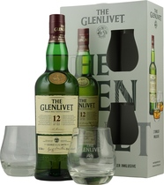 Glenlivet 12 years giftbox with two glasses