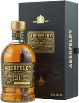Aberfeldy+Whisky+21+Jahre+%2F+Bester+Mainland+Single+Malt+2007 - Aberfeldy 21 years original with 700 ml. and 40 % volume from Scotland.  The Aberfeldy 21 years comes in a beautifull box the bottle is numbered. Its a Single Highland Malt whisky. The palate is full ...