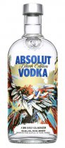 Absolut Blank Kinsey Edition Nr. 2  - Absolut Blank Edition Nr.2 Dave Kinsey with 0,7l and 40% Vol.  Designed Absolut Vodka Bottle by Dave Kinsey.  A collectors Edition by Absolut.