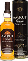 Amrut+Fusion+Whisky - Amrut Fusion Whisky with 700 ml. and 50 % volume from India.  The Amrut Fusion is an Indian Whisky, matured in scottish barleys to produce a malt whisky rich in flavour and character. Its in the middl...