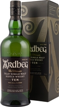 Ardbeg+Ten+Whisky+10+Jahre - Ardbeg Ten - Whisky 10 years with 46 % volume and 700 ml. content  from Islay.   A peaty salty Single Malt Whisky well know around the world. Ardbeg Ten Years Old is a very special bottling for the Ar...