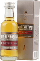 Auchentoshan 12 years Mini 0,05 l - Auchentoshan 12 years  Mini 0,05 l and 40 % volume.   Triple distilled, pure and smooth. With a tempting aroma of toasted almonds, caramelised toffee and the signature smooth, delicate, Auchentoshan t...