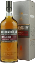 Auchentoshan+12+Jahre - Auchentoshan 12 years with 700 ml. and 40 % volume.   Triple distilled, pure and smooth. With a tempting aroma of toasted almonds, caramelised toffee and the signature smooth, delicate, Auchentoshan t...