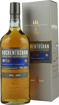 Auchentoshan+18+Jahre - Auchentoshan 18 years, with 700 ml. content and 43 % volume.  A triple distilled Lowland Single Malt Whisky, for a very low price.