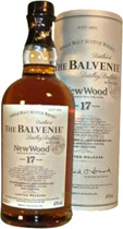 Balvenie+17+Jahre+New+Wood+%2F+Limitierte+Neuabf%FCllung - Balvenie New Wood Limited Release with 700 ml. content and 40 % volume.   During Maturation, this Balvenie was transferred from traditional oak whisky casks to new wood casks; Casks coopered from Quer...