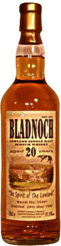 Bladnoch 20 year Single Cask