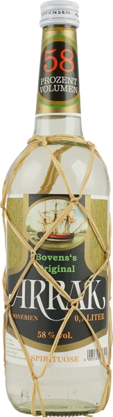 Bovens Original Arrak 58 % volume