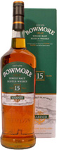 Bowmore+15+Jahre+Mariner+1+Liter - Bowmore 15 years Mariner with a content of 1 liter and 43 % volume. Super value! One of the best original Bowmores on the market and available here for a very small price.  Tasting notes of the Bowmor...
