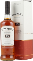 Bowmore Darkest 15 years - Bowmore Darkest 15 years with 700 ml. and 43 % volume. Released Februar 2006.   A dark whisky in the nose with chocolate and raisin aromas copliment the classic Bowmore smokiness. The palate is with C...