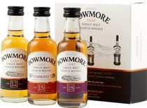 Bowmore+Distillers+Collection+Miniaturen+Set - Bowmores Distillers Collection Set with 3 bottles, each contain 50 ml. and 42 % volume.   In this set is a Bowmore 12 years, a Bowmore 15 years and a Bowmore 18 years from Islay.   The Bowmore Distill...