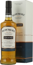Bowmore+Legend+Islay+Single+Malt+Whisky - Bowmore Legend with 700 ml. and 40 % volume.   A peaty, salty Islay Single Malt Whisky for an extrem great price. Sometimes with sometimes without box.  Tastingnotes of the Bowmore Legend:  Nose: Peat...