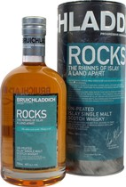 Bruichladdich+Rocks+Whisky - Bruichladdich Rocks with 700 ml. and 46 % volume.   The Master Distiller inspired by his native islands rugged yet beautiful scenery has created ROCKS from a range of contrasting casks types. Released...
