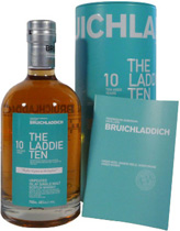 Bruichladdich+The+Laddie+Ten+10+Jahre - Bruichladdich The Laddie Ten 10 years with 46% volume and 700 ml.  Great Islay Single Malt Whisky by bruichladdich aged 10 years  The very first 10 year old whisky to be wholly distilled, aged and bot...