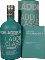 Bruichladdich &quot;Laddie Classic&quot; Edition 01 - Bruichladdich &quot;Laddie Classic&quot; Edition 01. with 0,7 liter and 46% volume.  Some Tastingnotes of the Bruichladdich Laddie Classic Edition 01:  Nose: fresh start with malty and fruity notes of...