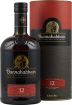 Bunnahabhain+12+Jahre+ - Bunnahabhain 12 years old with 700 ml.  and 46,3 % volume.  An Islay Single Malt Whisky very popular but now very difficult to get.   The Bunnahabhain Distillery was founded in 1881 by William Roberts...