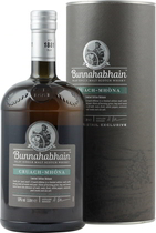 Bunnahabhain+Cruach+Mhona - Bunnahabhain Cruach Mhona with 1 liter content and 50 % volume.  This exclusiv Bunnahabhain Cruach Mhona Islay single malt Scotch Whisky introduces a wonderwully smoky dimension to the famous gently t...