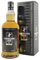 Campbeltown Loch Whisky 21 years - Campbeltown Loch 21 years with 0,7l and 46% Vol.  At Springbank distillery director of production Frank Hardy invented this Whisky which is well-balanced and made of 60% malt whisky and 40% grain whis...