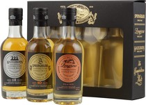 Campbeltown Malt Set with Springbank, Hazelburn, Longrow 3 x 200 ml. - Campbeltown Malt Set with 3 bottles and 200 ml, each 46 % volume.   In the Campbeltown Malt Set consists of a bottle Hazelburn CV, Longrow CV and Springbank CV.   Official Tasting Notes  Hazelburn CV ...