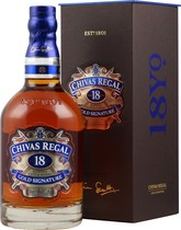 Chivas Regal 18 years Gold Signatur  / Double Gold Medal 2008 - Chivas Regal Gold Signature Whisky 18 years with 700 ml. and 40 % volume from Scotland.  The Chivas Regal Whisky 18 years is one of the best whiskeys in his class and Michael Jackson gave him 8,5 of 1...