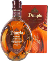 Dimple 15 years Scotch Blend - Dimple 15 years with 0,70 l and 40 % Vol.   The 15-year Dimple Whisky, is in the deluxe class on its own and a masterpiece. The high level of pureness and oak flavor in this Dimple Whisky give a warm ...