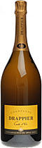 Drappier+Brut+Carte+Dor+Champagner+1.5+Liter - Drappier Carte D\'or Brut with 1500 ml. and 12 % volume. A really good champanger. Drappier\'s Carte d\'Or Brut champagne has all the aroma of the Pinot Noir grape variety, which in fact makes up 90% ...
