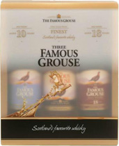 Famous+Grouse+Geschenkset+3+x+350+ml. - Famous Grouse giftpack with 3 bottles, each contain 350 ml, 2x40%, 1x43%   In the set is the awesome Famous Grouse 12 years, the normal Famous Grouse whisky and the superb Famous Grouse 18 years.   A ...