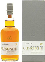 Glenkinchie 20 years - Glenkinchie 20 years with 700 ml. and 58.4 % volume.   This has a very unusual maturation: refill American Oak, re-racked into ex-brandy casks (2/3 refill, 1/3 rejuvenated) for a further ten years. 5,...