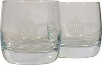 Havana Club tumbler glasses 2 piece set - Havana Club Glser 2 piece set.  Both Havana Club glasses with a small Havana logo on the front and a small figure on the back.  Perfect for your Cuban rum, especially the Havana Barrel Proof, or the ...