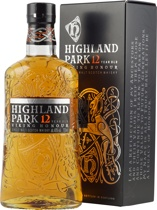 Highland+Park+12+Jahre - Highland Park 12 years 700 ml. with 43 % volume. One from the best Highland Single Malts.   The 18 years old was rated 2003 as the best Highland Single Malt. This is a smooth not peaty great whisky.  ...