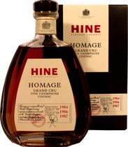 Hine Homage Grand Cru Fine Champagne Cognac - Hine Homage Grand Cru Fine Champagne Cognac with 700 ml. and 40 % volume.  made from 1984, 1986 and 1987 Cognac.  By Cellar Master Eric Forget  A Vintage Blended Cognac from the Cellars of Hine in Bri...