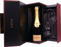 Krug Grande Cuvee Coffret Joseph - Krug Grande Cuvee Champagner with 750 ml. and 12,5% volume.   In a beautiful giftbox with two glasses you can have this Champagne.  There is no formula or recipe for Krug Grande Cuv�e. Each year the K...