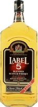 Label 5 Blended Scotch Whisky - Label 5 Blended Scotch Whisky with 1,0l and 40% Vol.  Here are some tasting notes for Label 5 Blended Scotch Whisky:  Nose: Slightly smoky with a bit of peat on a basis of flowery notes and fruit.  Ta...