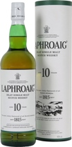 Laphroaig+10+Jahre - Laphroaig 10 years with 700 ml. and 40 % volume. Islay Single Malt peaty and salty. One from the most peated Single Malts.   Laphroaig 10 Year Old is an all-malt Scotch Whisky from the remote island o...
