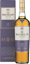 Macallan+18+Jahre+Fine+Oak - Macallan 18 years Fine Oak with 700 ml. and 43 % volume.  This 18 years old Single Highland Malt has a exotic floral nose. The Palate is soft and rich, with hints of citrus, spice and wood smoke.  Dav...