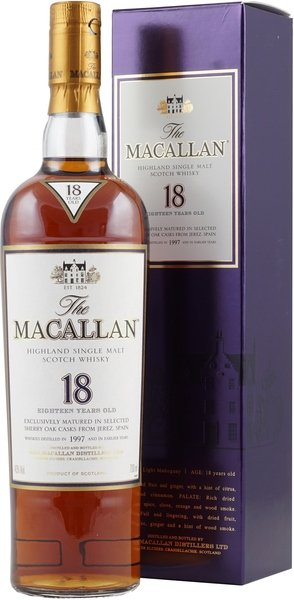 Macallan 18 years Sherry / World best Whisky 2004