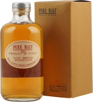 Nikka+Red+Pure+Malt+Whisky - Nikka Red Pure Malt Whisky with 500 ml. content and 43 % volume.   Bottled at 43%, and a vatting of whisky from Sendai distillery and Lowland Scotch. Nikka are said to produce a more Scotch-style whis...