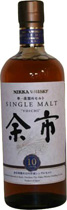 Nikka Yoichi 10 years - Nikka Yoichi 10 years with 700 ml. and 45 % volume.  Initial whiffs  Really fruity!! Strawberries, lots of them, pepper, vanilla (it almost noses like the Glenfarclas 15yr, perhaps its the spicy pep...