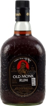Old+Monk+Rum+7+Jahre+1+Liter - Old Monk Rum with 1 liter content and 42,8 % volume from India.   The Old Monk rum with a maturation time of 7 years in oak barrels is a good rum, which some barkeeper prefer, because of it`s differen...