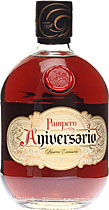 Pampero+Aniversario+%2F+Weltbester+Rum+2007 - Pampero Aniversario with 700 ml. content and 40 % volume from Venezuela.  It comes in a leather bag. Rum Test Week Barbados: Gold 2000 and 2001.   Deep mahogany. Toffee, baked apple, walnut, glue, and...