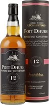 Poit Dhubh 12 years Gaelic Malt Scotch Whisky - Poit Dhubh 12 years Gaelic Malt Scotch Whisky with 43 % volume and 0,7 liter content.  The name Poit Dhubh means &quot;black pot&quot; which is a name for the illegal whisky.   Tasting notes of the Po...