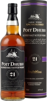"Poit+Dhubh+21+Jahre+Gaelic+Malt+Scotch+Whisky - Poit Dhubh 21 years Gaelic Malt Scotch Whisky with 43 % volume and 0,7 liter content.  The name Poit Dhubh means ""black pot"" which is a name for the illegal whisky.   Tasting notes of the Po..."