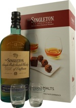 Singleton of Dufftown Classic Malts & Food - Singleton of Dufftown Classic Malts & Food with 0,7 l and 40% vol., 4 tasting glasses and a recipe book  This innovation includes a Singleton Classic Malts 12 years. Together with the 4 tasting glasse...
