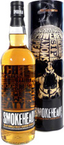 Smokehead Peated Whisky - The Rock Edition with Skull - Smokehaed Peated from Macleods with 700 ml. and 43 % volume.  9 from 10 points from Arthur Motley from the Whisky Magazin and 7.75 points from Dave Broom.  The Rock Edition with skull on the tube.  SM...