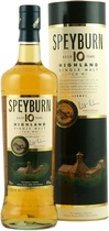Speyburn+10+Jahre - Speyburn 10 Years in the metall tube original with 700 ml. and 43 % volume.   The Speyburn 10 years is a Highland Malt mild and with honey taste and a warm finish. The Speyburn 10 years is distilled i...