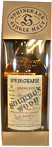 Springbank Bourbon Wood Finish - Springbank Bourbon Wood Finish. 70 cl. and 58,5 % volume. Limited to 5986 bottles  colour - intermediate   Nose - Full bodied, malty and sweet, without being sherried. An initially fruity nose develop...