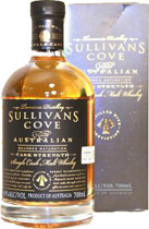 Sullivans Cove Bourbon Whisky Cask Strength - Sullivans Cove Bourbon Matured Whisky from Australian with 700 ml. and 60 % volume.  Tasting Notes:  Very pale dull gold colour with water like hue. Delightful, sweet, spicy pastry and vanilla nose wi...