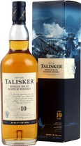 Talisker+10+Jahre+200+ml.+ - Talisker 10 Years with 45,8 % volume and 200 ml.   One of the world\'s best whiskies, all categories. Peat-reek and spicy with the best and most lasting finish you can dream of. Essential in every bar...