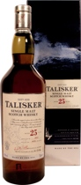 Talisker 25 years Original 2012 - Talisker 25 years 2012 original with 70 cl. and 45,8 % volume.   A Rolls Royce of a whisky. Has great depth, peat-smoke and spicy pepper. A whisky to die for.  Tasting notes of the Talisker 25 years: ...
