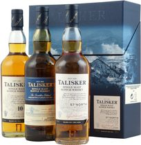 Talisker+Geschenkset+3+x+200+ml. - Talisker Gift Set very nice with 3 bottles each contain 200 ml and  2 x 45,8 % Volumen und 1 x 57 %.  The Talisker Gift set consist of the Talisker 10 years, a Talisker 57 North and a Talisker Distill...