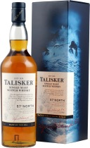 Talisker North 57 %  - Talisker North 1 liter content with 57 % volume. A little bit salty Whisky, matured in american casks.  For a little bit more sweetness and peat. The finish is salty with pepper. Extrem low price.